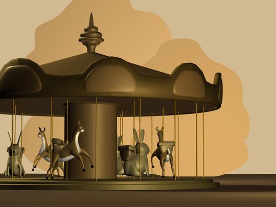 Image du manège avec les animaux