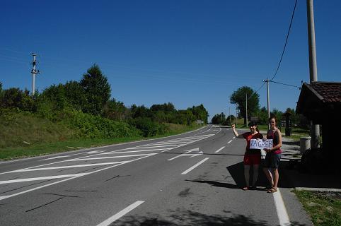 Autostop en Croatie