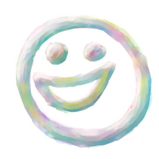 Un smile en couleur qui sourit