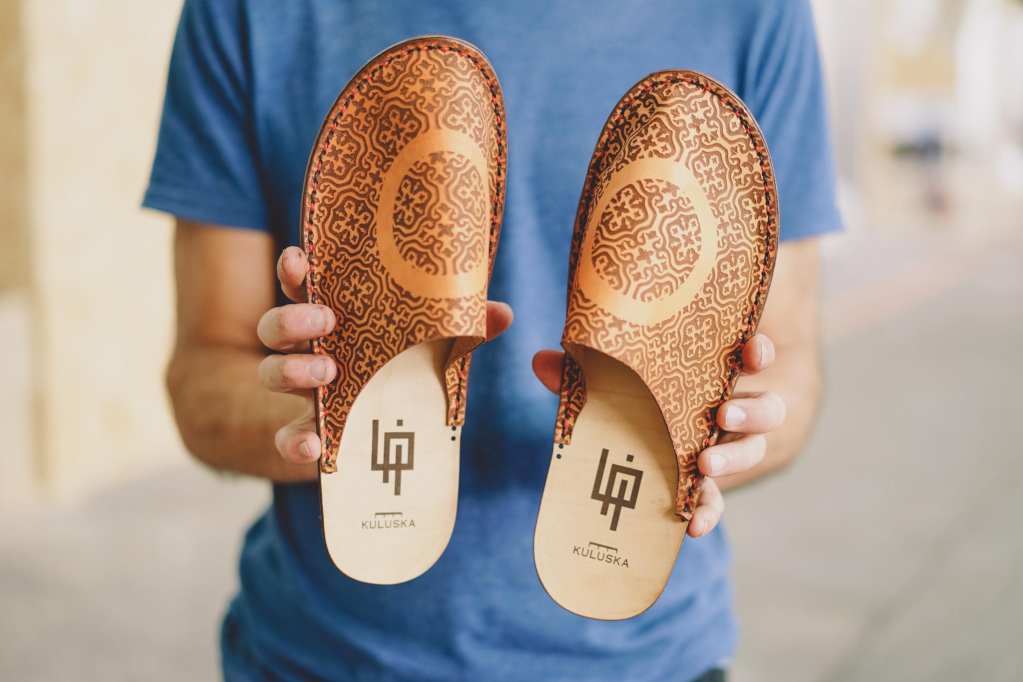 Sandale en cuir avec le FabCafé de Toulouse