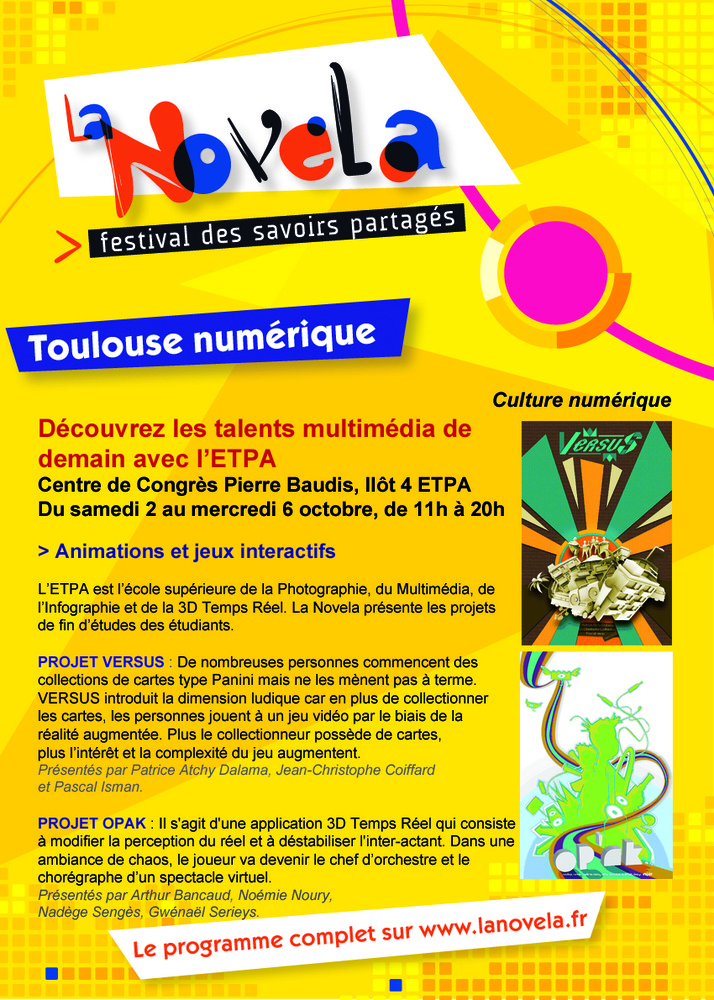 L'ETPA à la Novela 2010, à Toulouse, en France