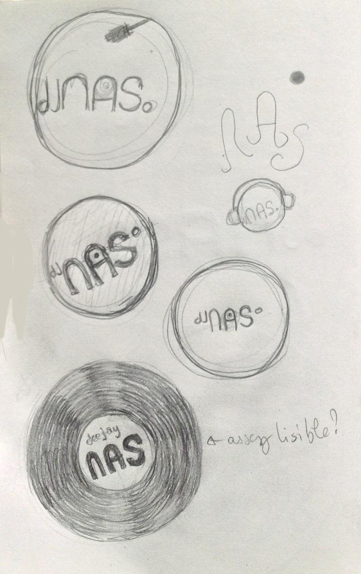 crayonné de recherche pour un logo